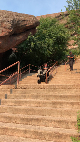 Gary climbing over 400 stairs at Red Rocks Amplitheatre