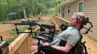 Jefferey shooting with his new adaptive equipment!