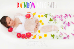 Rainbow milk bath