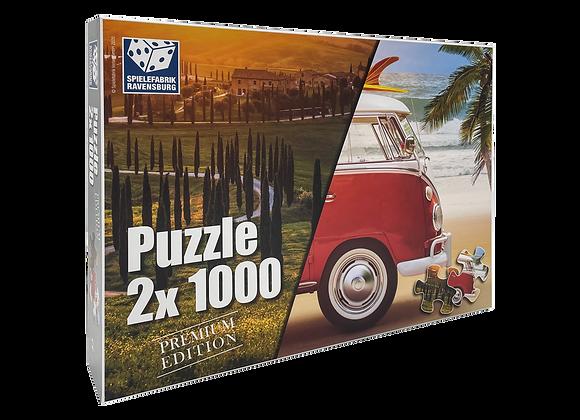 2x1000 Teile Puzzle - Premium Urlaubs Edition