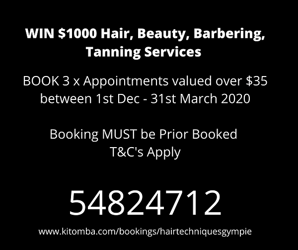 WIN $1000 Hair, Beauty, Barbering, Tanni