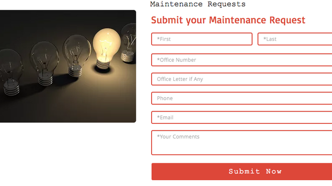 New Way to Submit Maintenance Requests