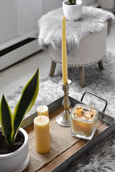 White Stone Candles