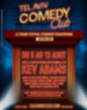 Affiche TLVcomedy club 2018 édition 2