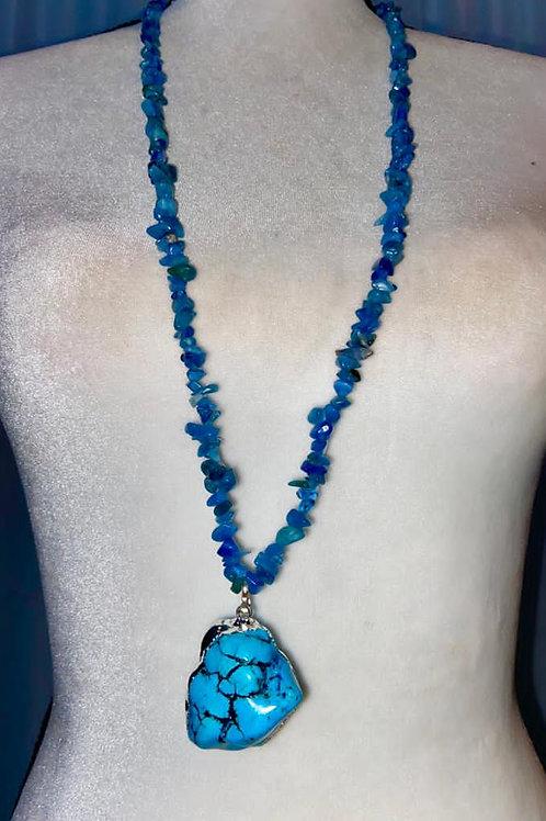 Turquoise semi precious necklace