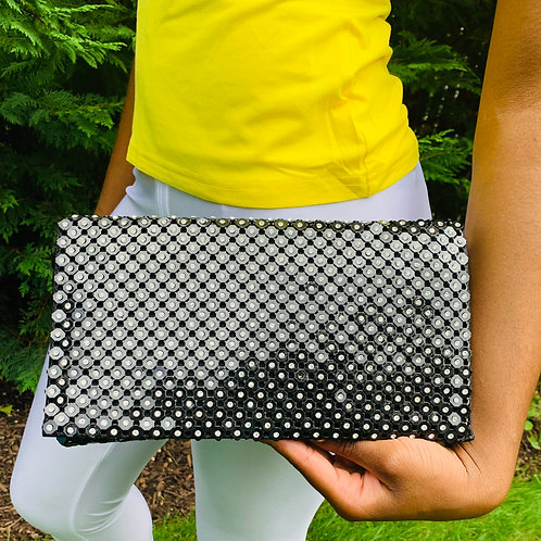Black Diamante Clutch