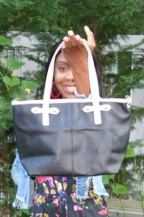 Genuine Leather 2 Tone Bag