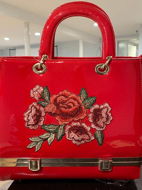 Red Floral Bag