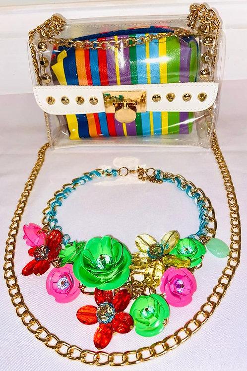 Stoosh Packs - Multi color/clear messenger bag