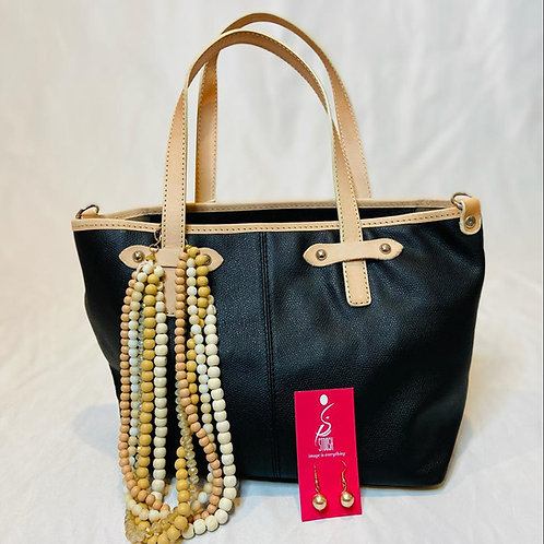 Stoosh Pack -Black Leather