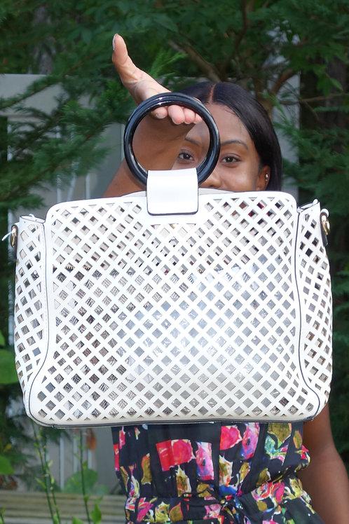 Wood Handle - basket type bag
