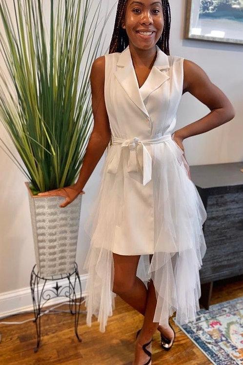 Vest Dress with Sheer