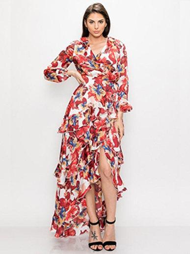 Floral Multi Layered Dress