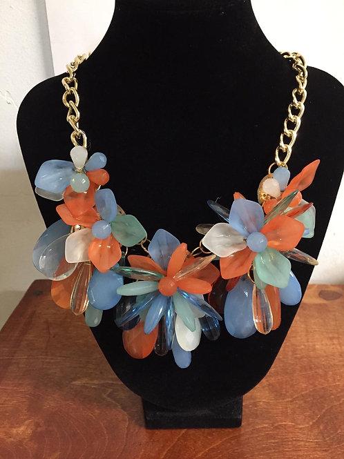 Multi Colored Floral Stoosh Necklace Set