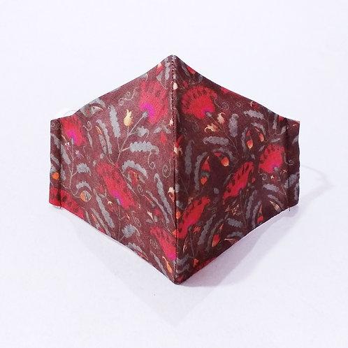 Cotton Mask - Floral Brown