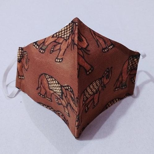 Cotton Mask - Elephant Print
