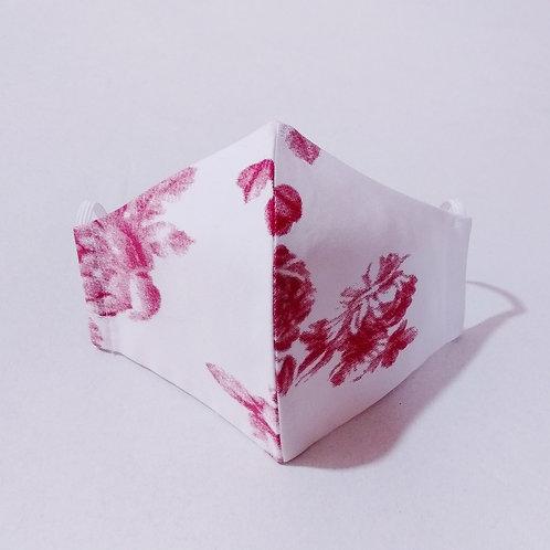 Cotton Mask - Floral White