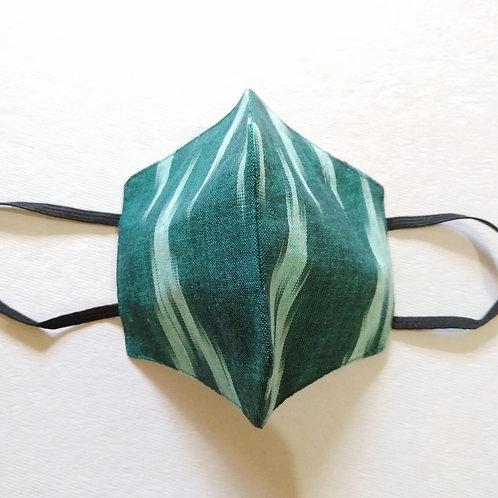 Cotton Mask - Ikkat - Green
