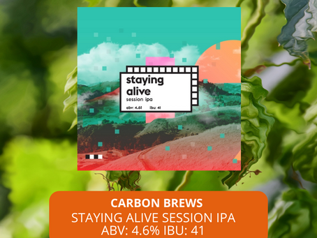 Sep25本地啤酒介紹 Carbon Brews Staying Alive Session IPA ABV: 4.6%