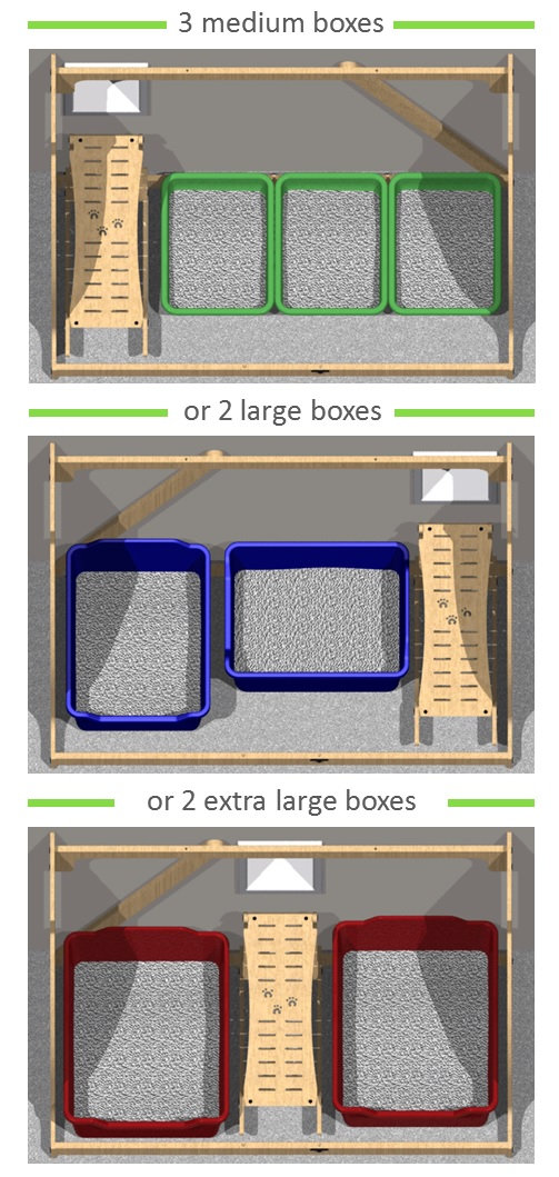 Pet Outhouse | flexible design for your cat litter boxes