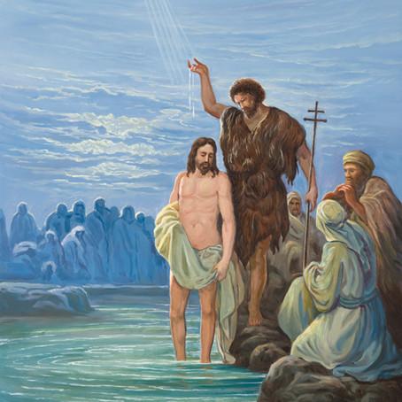 Baptism ( Matthew 3:16-17, Mark 1:10-13 )