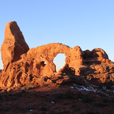 Most of the arches in the park have names; this one is called Turret Arch