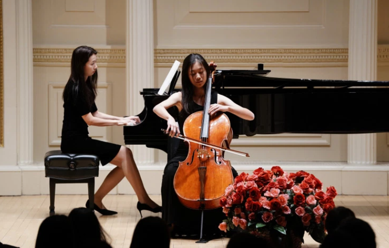 Nora seen here performing at Carnegie Hall, a world renowned music hall in NY, NY