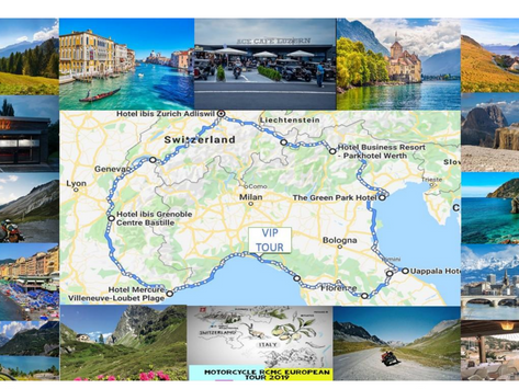 Motorcycle RCMC European Tour June 17-30, 2019