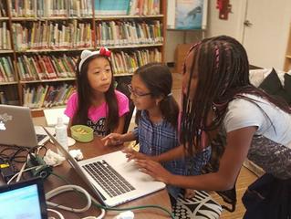 Kids create their websites at Techakids