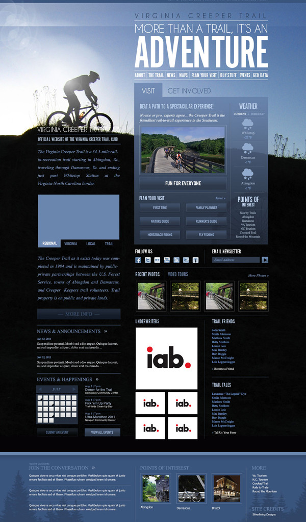 This is the comp for the website. Do you see the progression from sketch and wireframe to final comp?