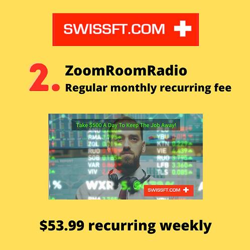 ZoomRoomRadio Regular monthly recurring fee