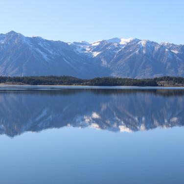 Jackson Lake with the Teton Range in the background.