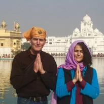 Dev Galloway & Maia Kincaid Golden Temple, Armritsar, Punjab, India 016