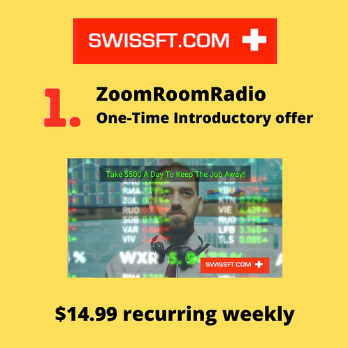 ZoomRoomRadio One-Time Introductory offer