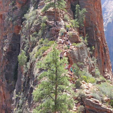 This is the back side of Angels Landing.  From here there is still a good, and dangerous hike ahead.