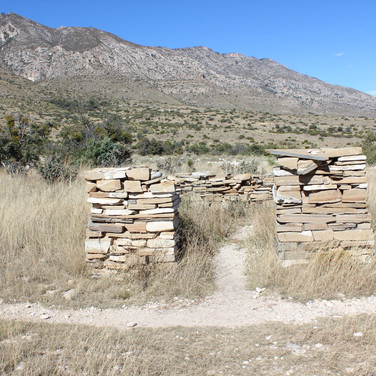 This is what's left of the old Butterfield Stagecoach area of the mid 1800's.