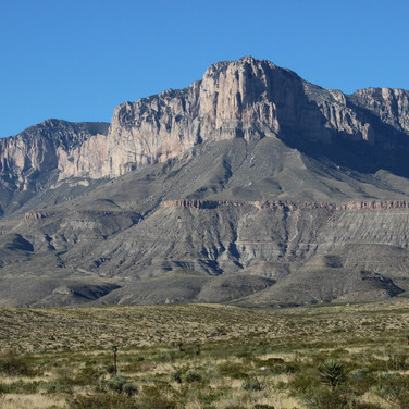 This is El Capitan of the Guadalupe Mts.