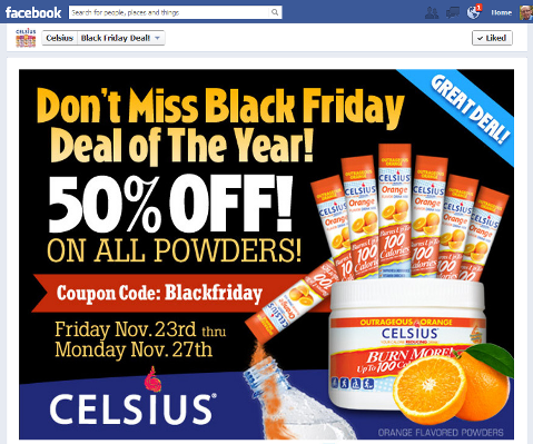 CelsiusDrink How to Increase Facebook Fans and Engagement with the Right Promotion