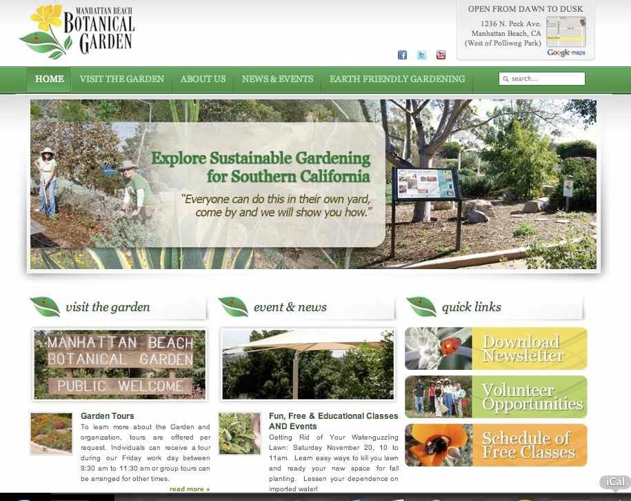 manhattan beach botanical garden website