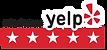 yelp business logo 5 star business