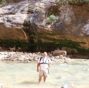 Aaron in the Virgin River.