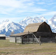Various housing structures on Mormon Row.