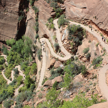 This is the trail leading up to Angels Landing