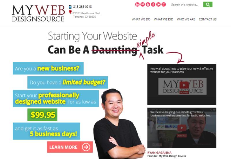 web designer in torrance, web developer torrance, website designer