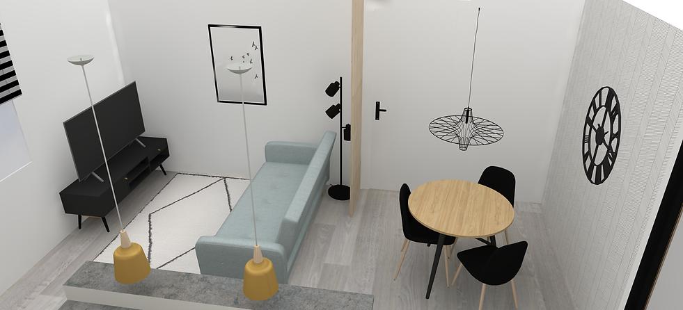 Visuels 3D - decoration appartement etudiant