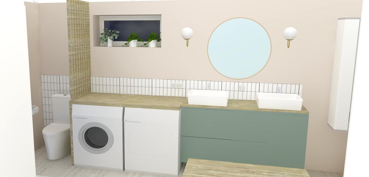 Projet rénovation salle de bain buanderie Saint savin