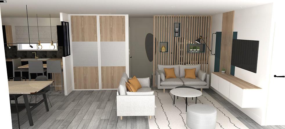 salon claustra bois