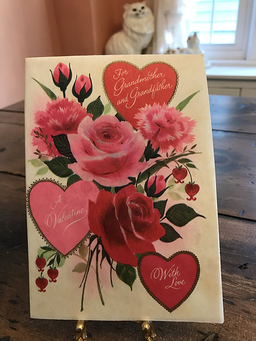 Vintage Card, Valentines Card for Grandparents,Greeting Cards