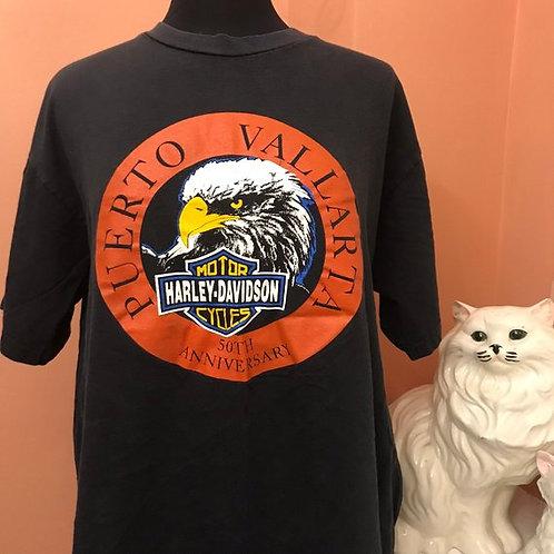Vintage T-Shirt, Puerto Vallarta, 50th Anniversary, HD 90s, Harley Davidson
