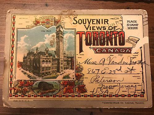Postcard Collection, 1930s, Souvenir Views of Toronto, Canada